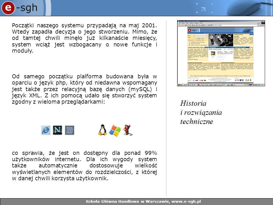Szkoła Główna Handlowa w Warszawie, www.e-sgh.pl