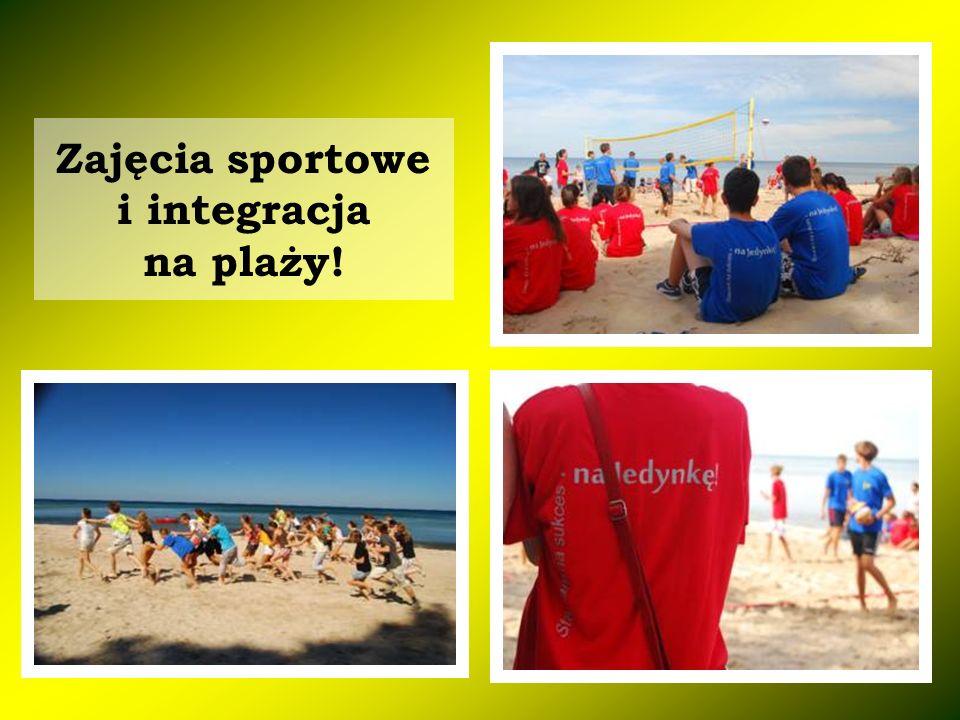 Zajęcia sportowe i integracja na plaży!