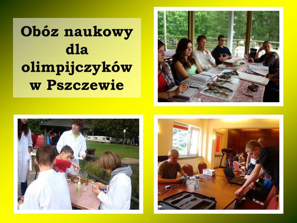 Obóz naukowy dla olimpijczyków w Pszczewie