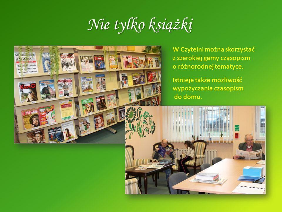 Nie tylko książki W Czytelni można skorzystać z szerokiej gamy czasopism o różnorodnej tematyce.