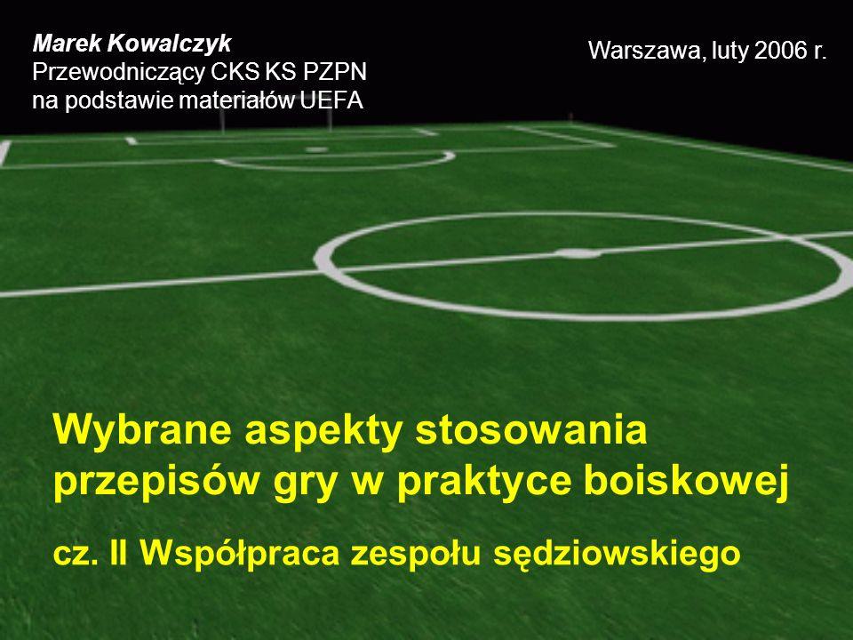 Wybrane aspekty stosowania przepisów gry w praktyce boiskowej