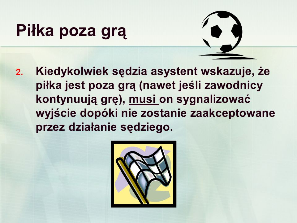 Piłka poza grą