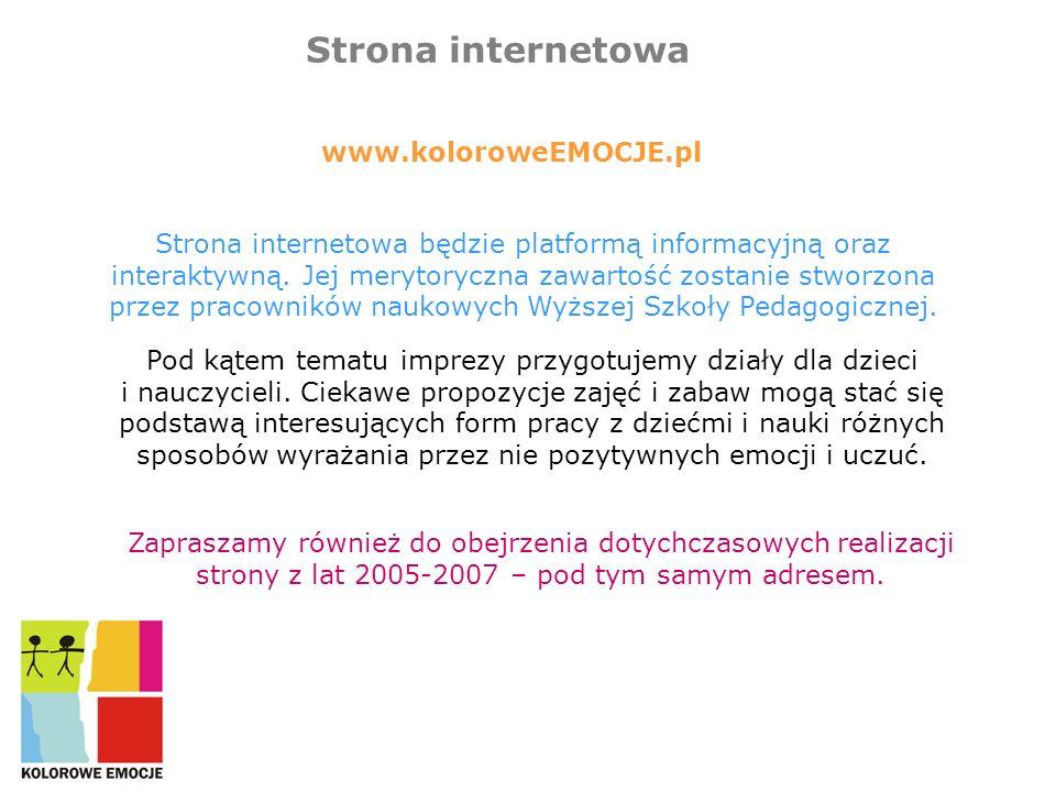 Strona internetowa www.koloroweEMOCJE.pl