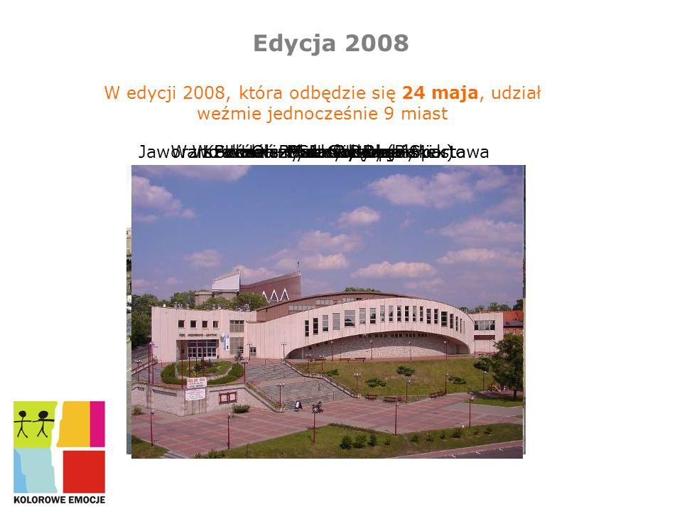 Edycja 2008 W edycji 2008, która odbędzie się 24 maja, udział weźmie jednocześnie 9 miast. Jaworzno – Hala Widowiskowo-Sportowa.
