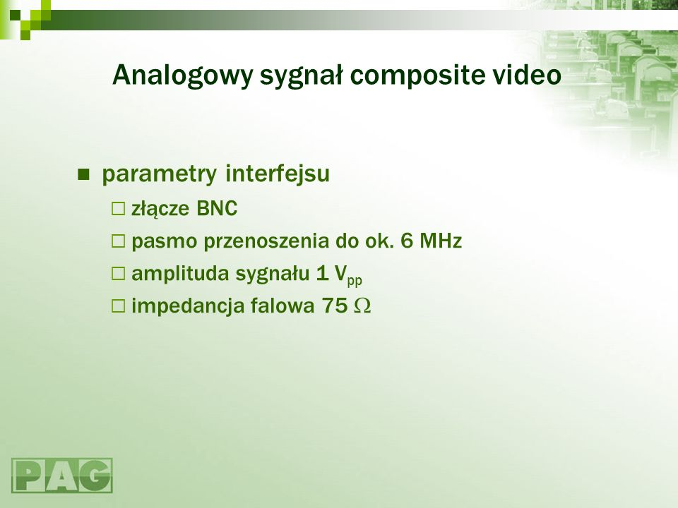 Analogowy sygnał composite video