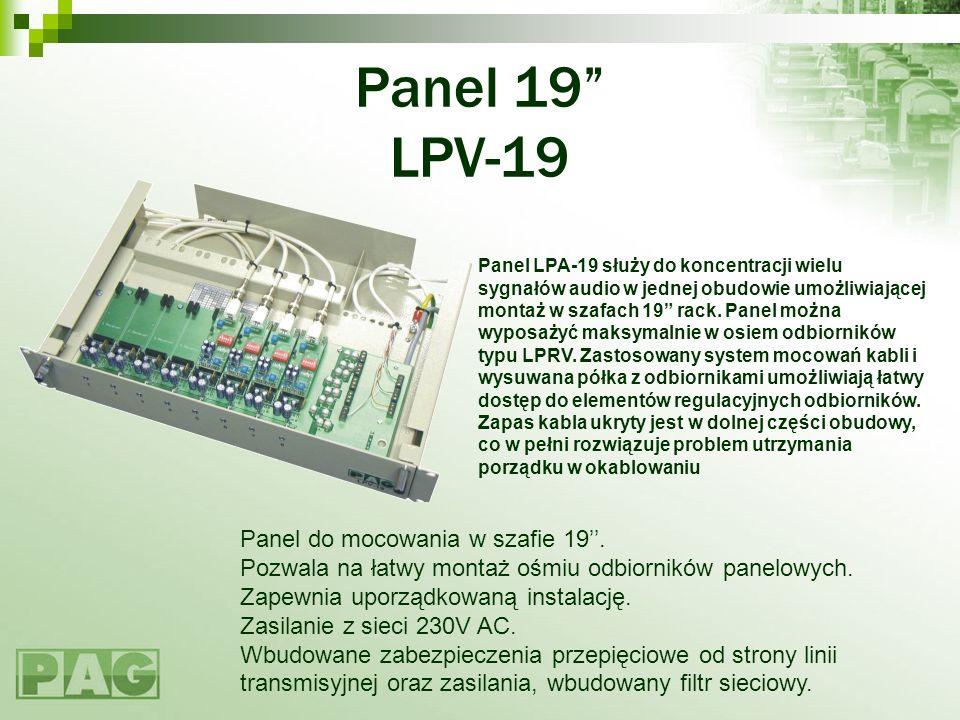 Panel 19 LPV-19 Panel do mocowania w szafie 19''.
