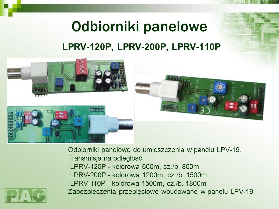 Odbiorniki panelowe LPRV-120P, LPRV-200P, LPRV-110P