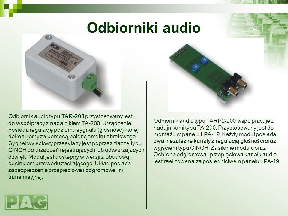Odbiorniki audio Odbiornik audio typu TAR-200 przystosowany jest