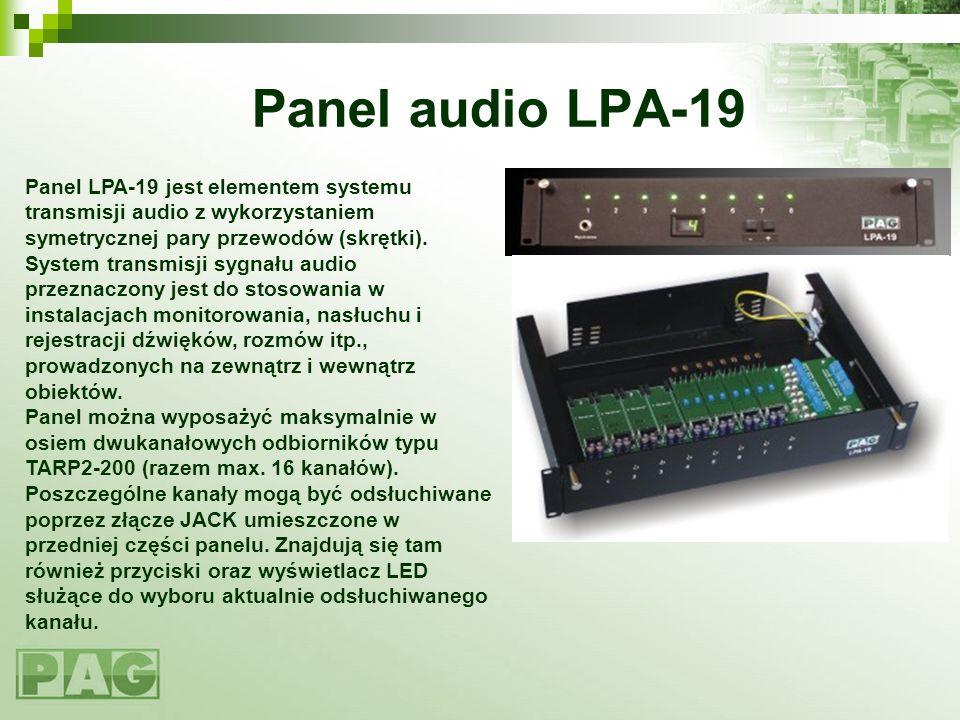 Panel audio LPA-19