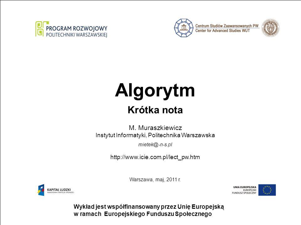 M. Muraszkiewicz Instytut Informatyki, Politechnika Warszawska