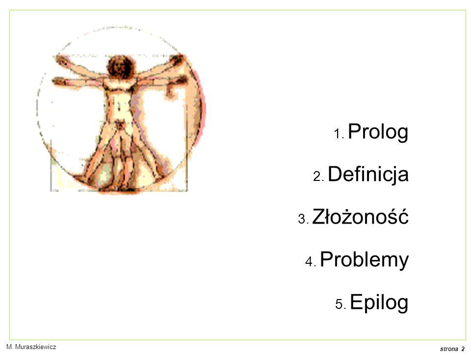 Prolog Definicja Złożoność Problemy Epilog M. Muraszkiewicz