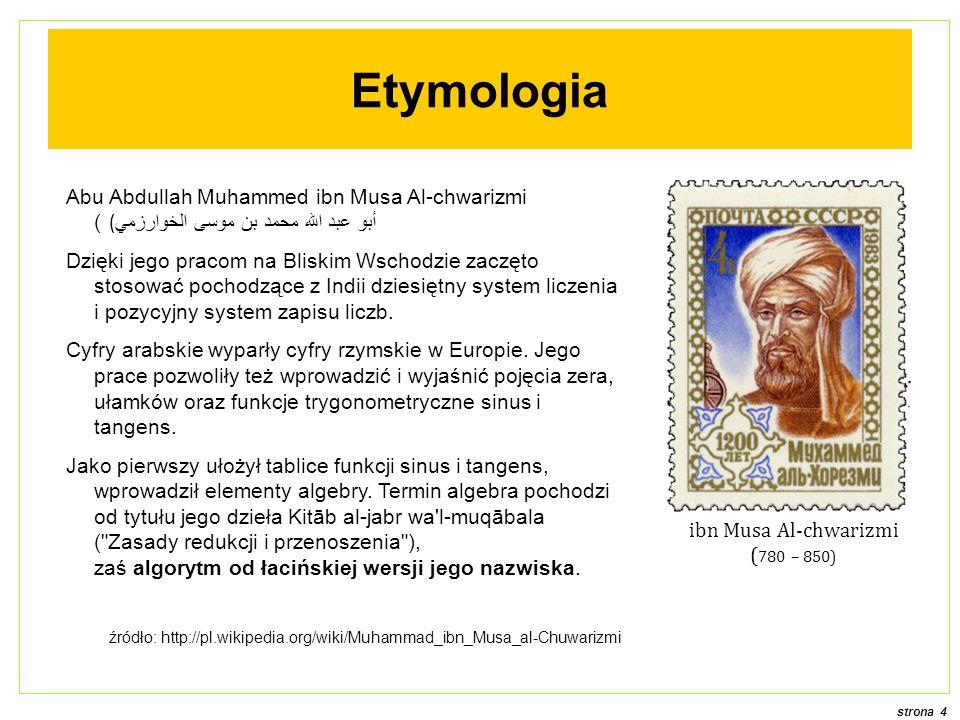 ibn Musa Al-chwarizmi (780 – 850)