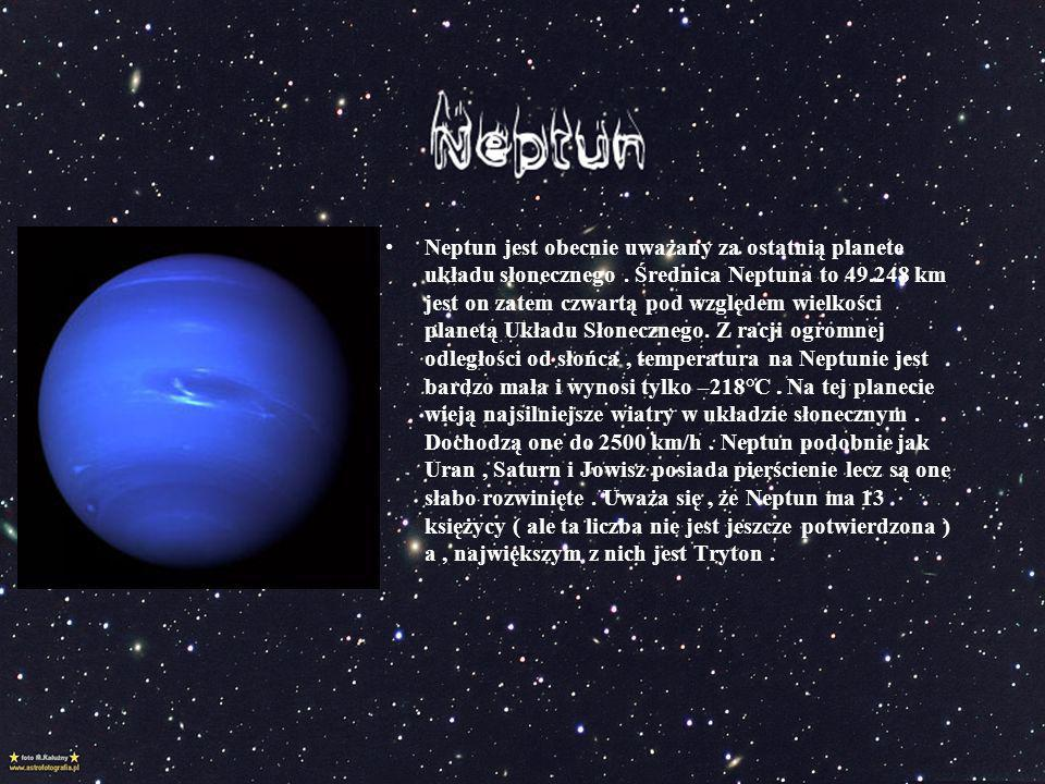 Neptun jest obecnie uważany za ostatnią planete układu słonecznego