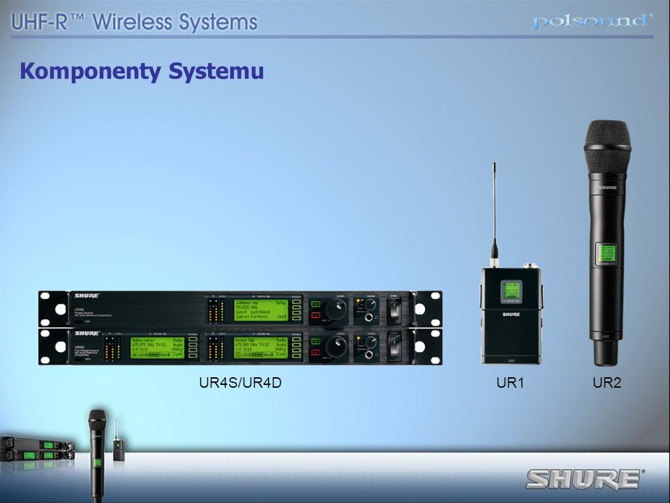 Komponenty Systemu UR4S/UR4D UR1 UR2