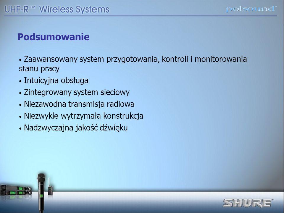 Podsumowanie Zaawansowany system przygotowania, kontroli i monitorowania stanu pracy. Intuicyjna obsługa.