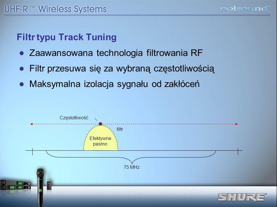 Filtr typu Track Tuning