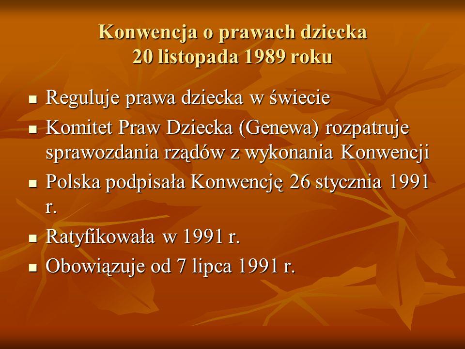 Konwencja o prawach dziecka 20 listopada 1989 roku