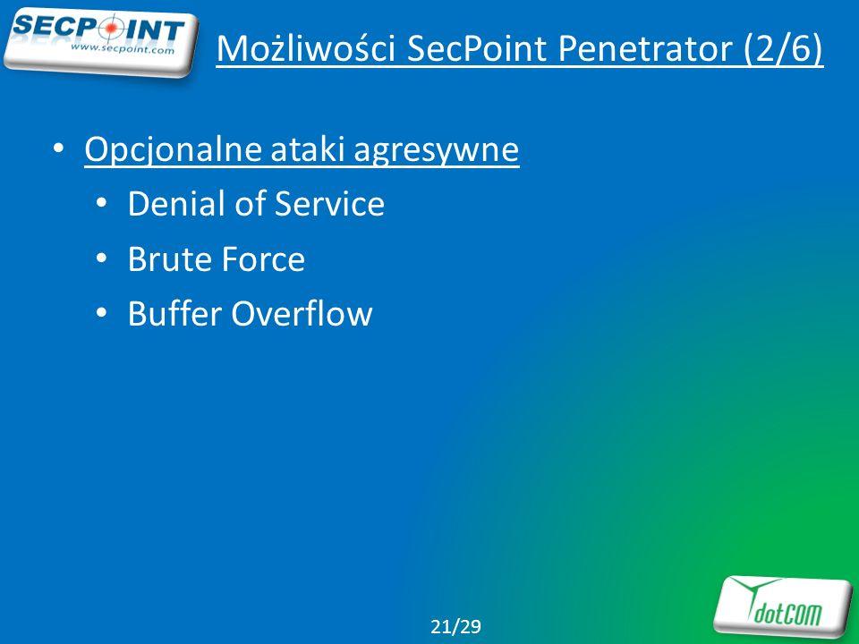 Możliwości SecPoint Penetrator (2/6)