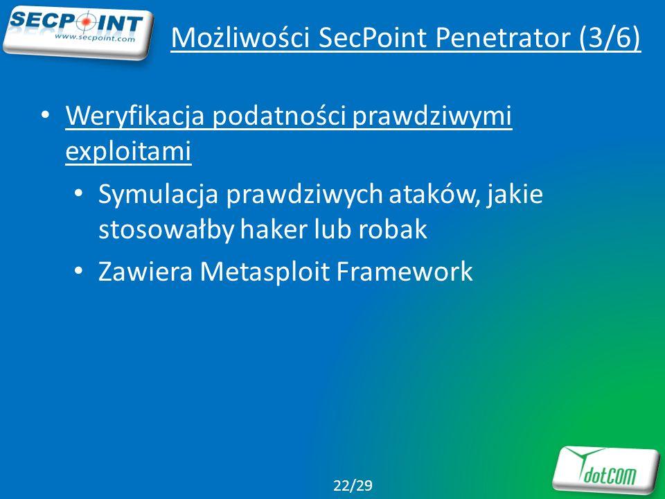 Możliwości SecPoint Penetrator (3/6)