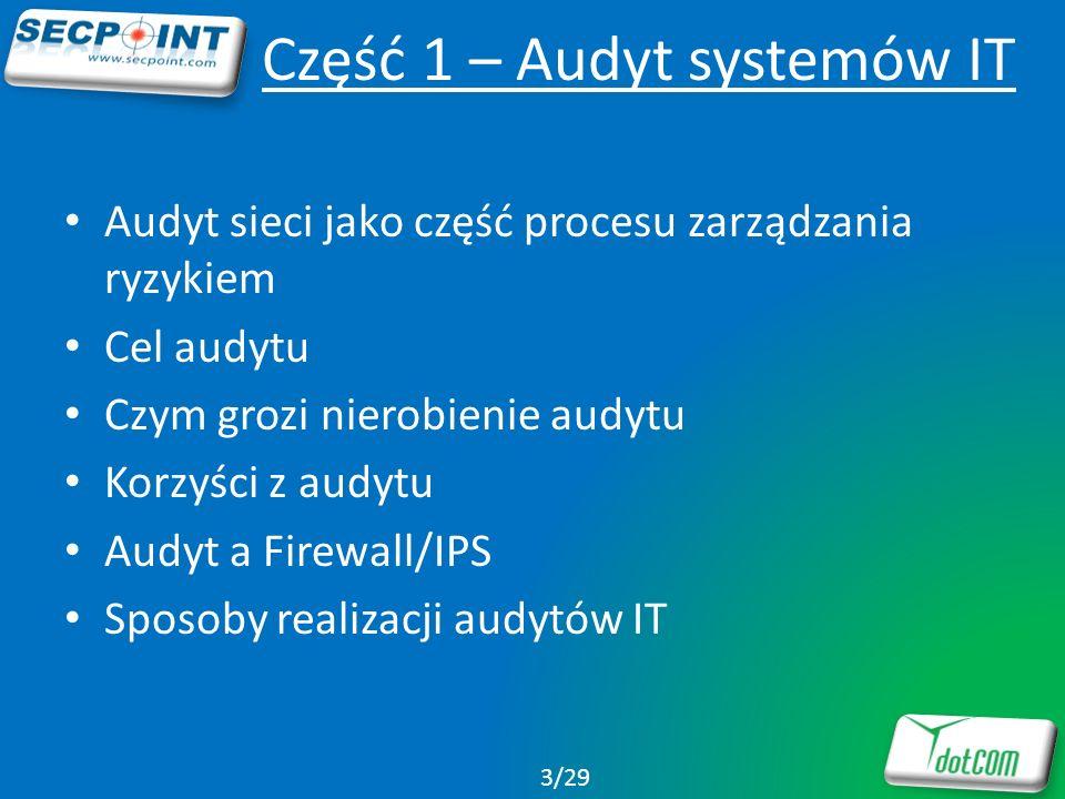 Część 1 – Audyt systemów IT