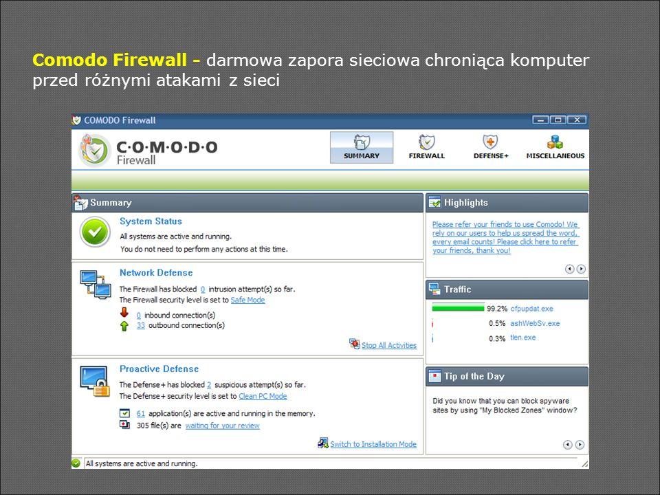 Comodo Firewall - darmowa zapora sieciowa chroniąca komputer przed różnymi atakami z sieci