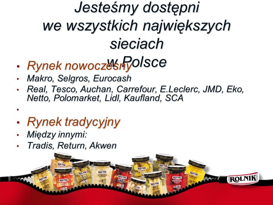 Jesteśmy dostępni we wszystkich największych sieciach w Polsce