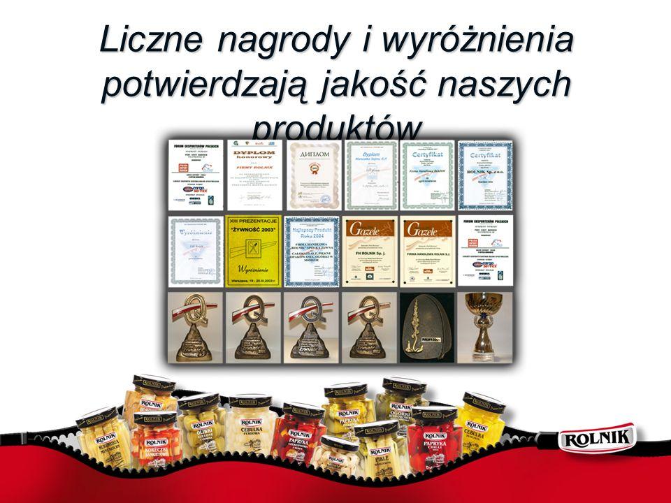 Liczne nagrody i wyróżnienia potwierdzają jakość naszych produktów