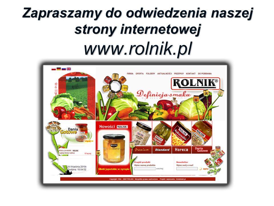 Zapraszamy do odwiedzenia naszej strony internetowej www.rolnik.pl
