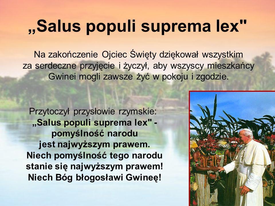 """""""Salus populi suprema lex"""