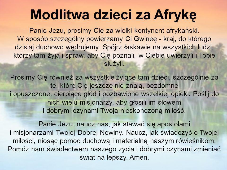 Modlitwa dzieci za Afrykę