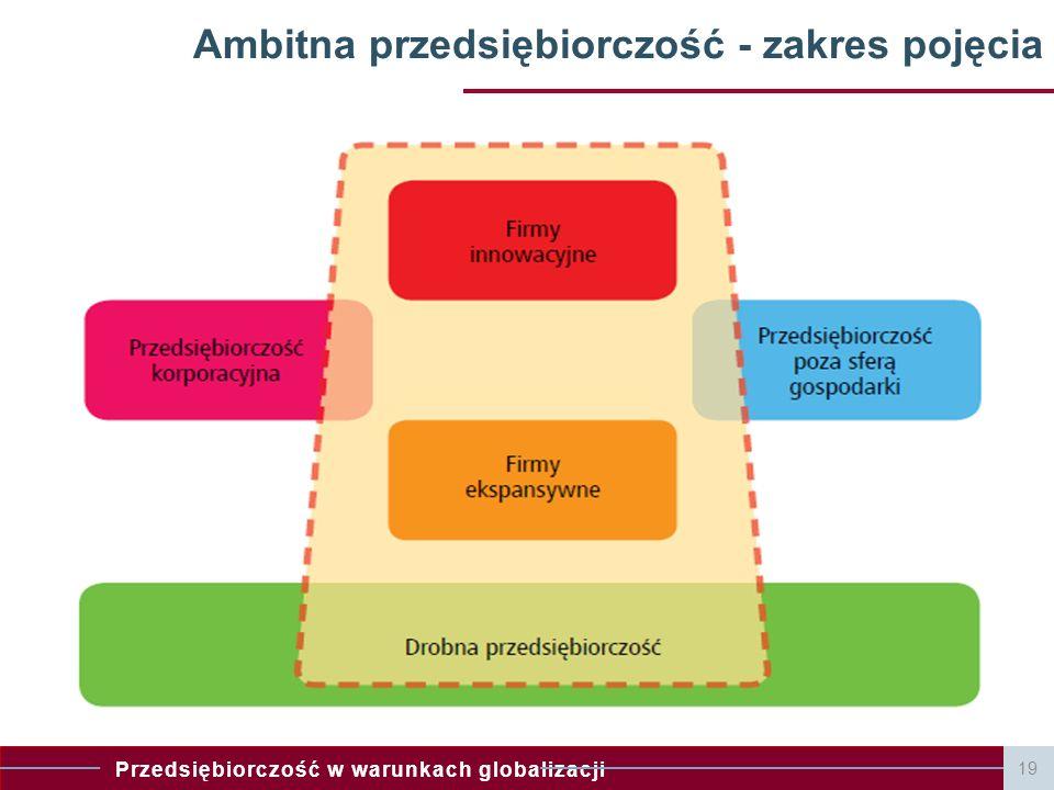 Ambitna przedsiębiorczość - zakres pojęcia