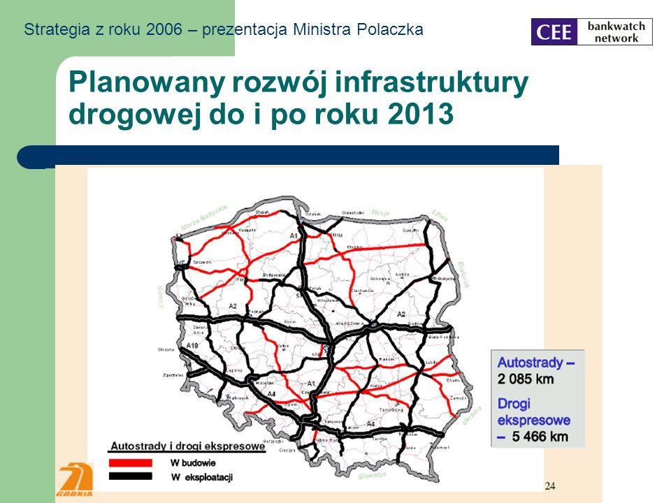 Planowany rozwój infrastruktury drogowej do i po roku 2013