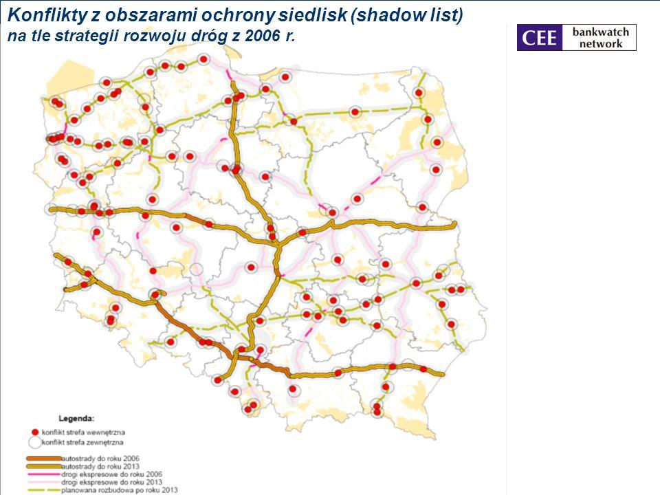 Konflikty z obszarami ochrony siedlisk (shadow list)