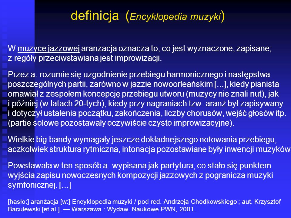 definicja (Encyklopedia muzyki)