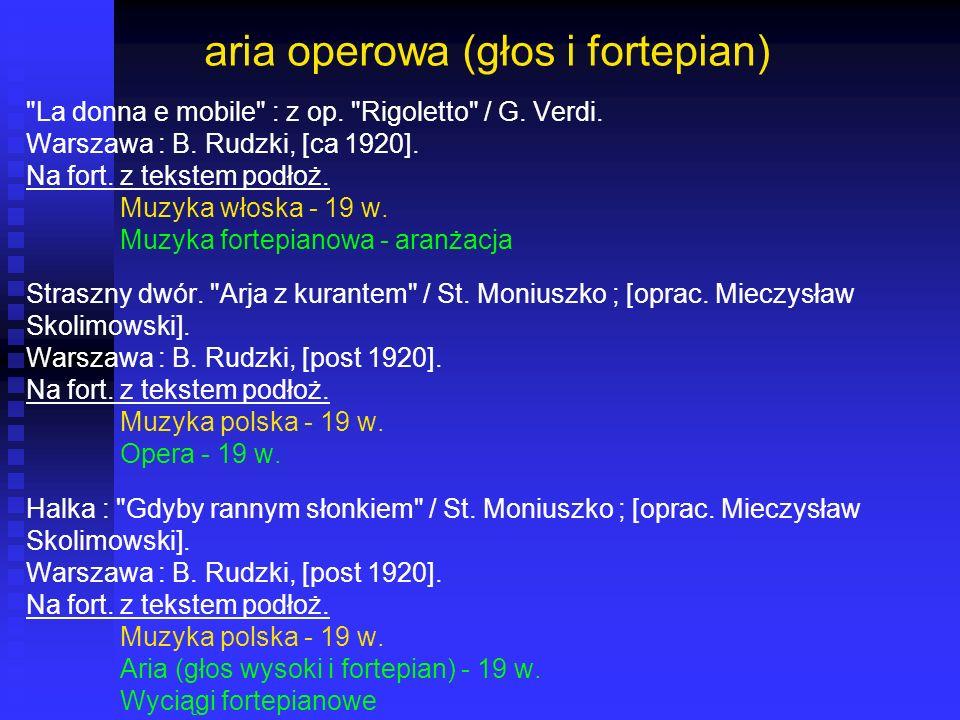 aria operowa (głos i fortepian)