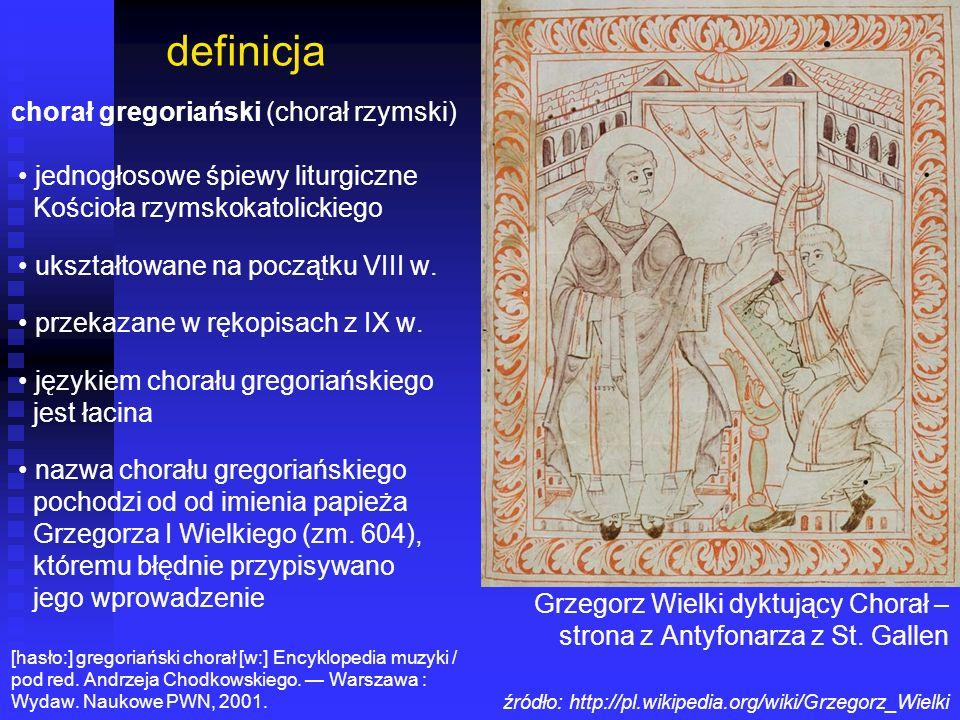 definicja chorał gregoriański (chorał rzymski)