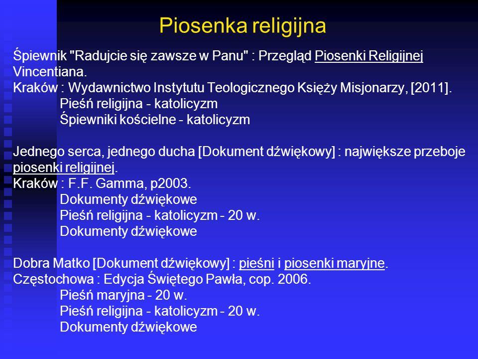 Piosenka religijna Śpiewnik Radujcie się zawsze w Panu : Przegląd Piosenki Religijnej. Vincentiana.