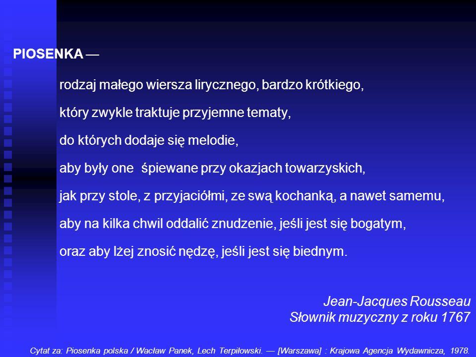 Jean-Jacques Rousseau Słownik muzyczny z roku 1767