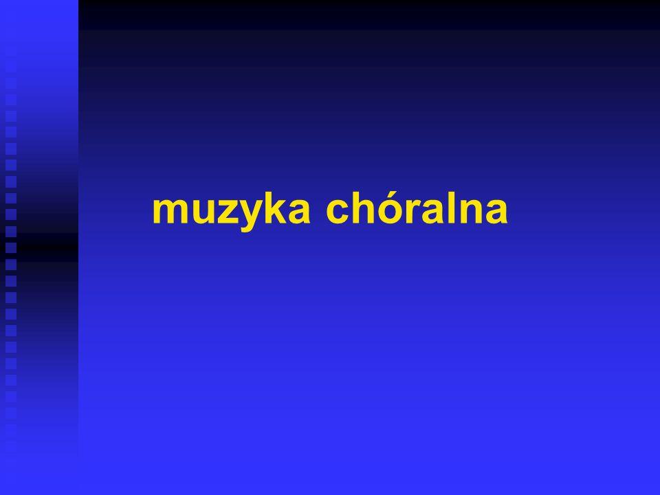muzyka chóralna