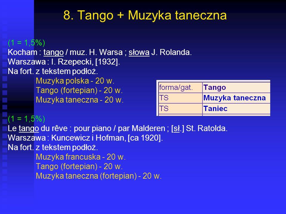 8. Tango + Muzyka taneczna