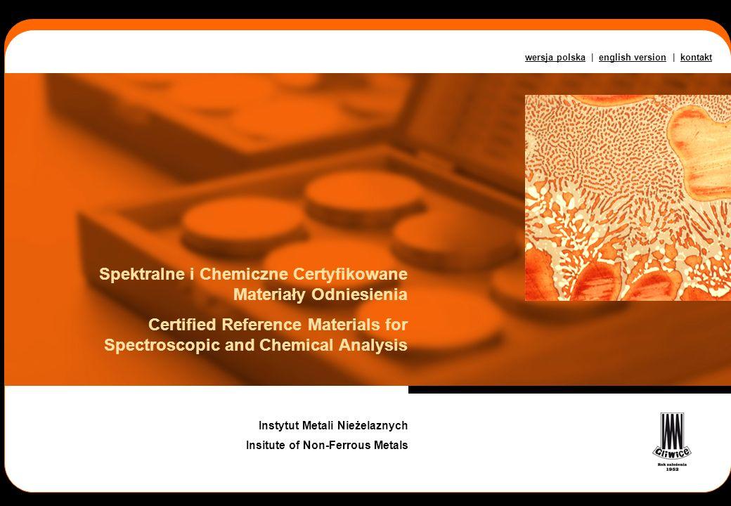 Spektralne i Chemiczne Certyfikowane Materiały Odniesienia