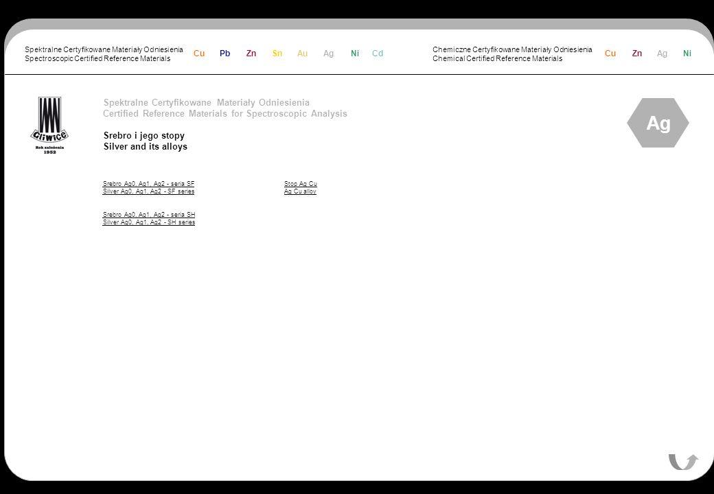 Ag Spektralne Certyfikowane Materiały Odniesienia