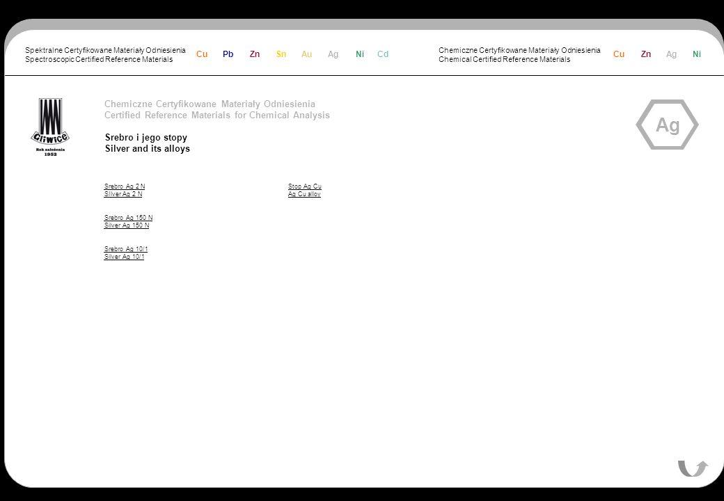 Ag Chemiczne Certyfikowane Materiały Odniesienia