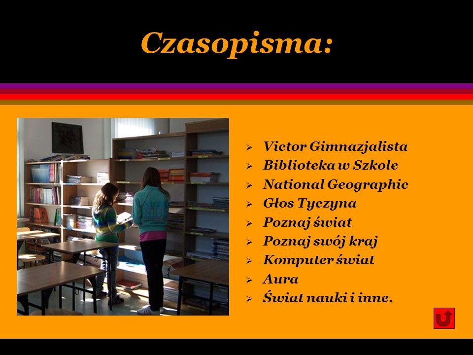 Czasopisma: Victor Gimnazjalista Biblioteka w Szkole