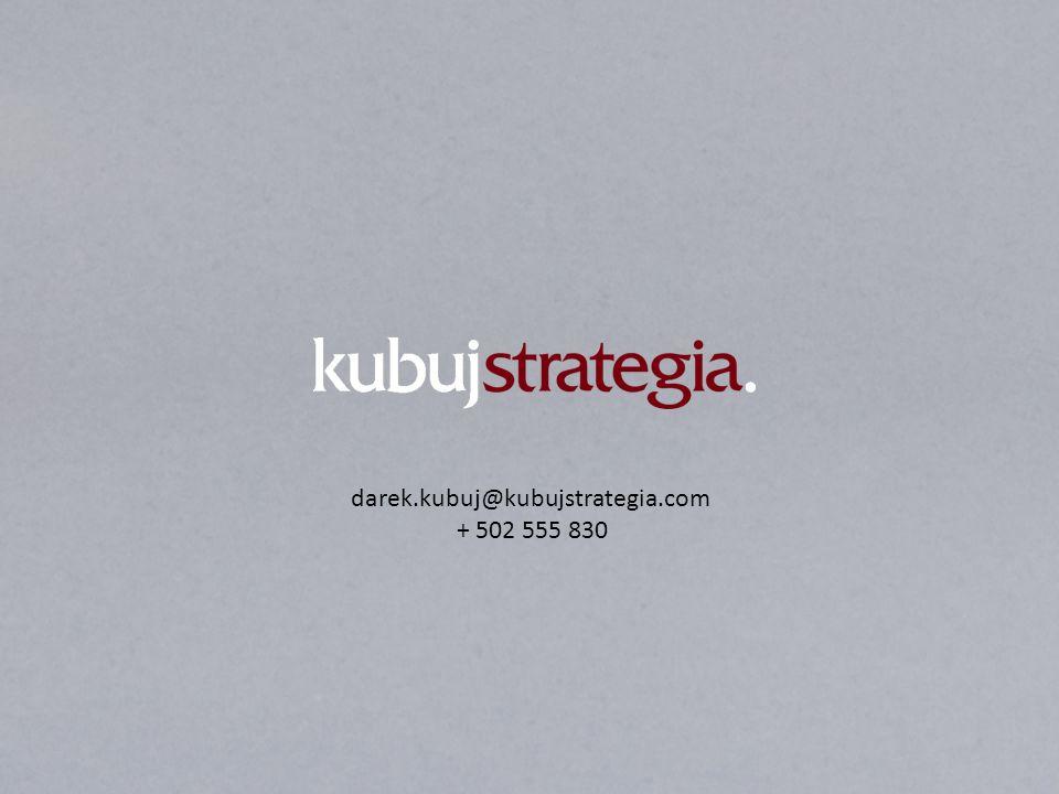 darek.kubuj@kubujstrategia.com + 502 555 830