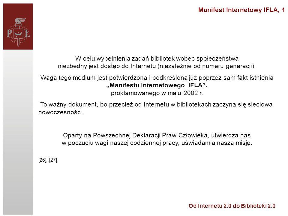 Manifest Internetowy IFLA, 1