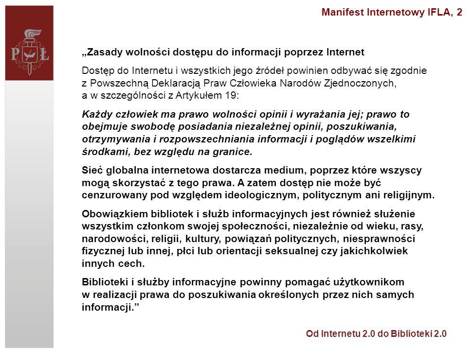Manifest Internetowy IFLA, 2
