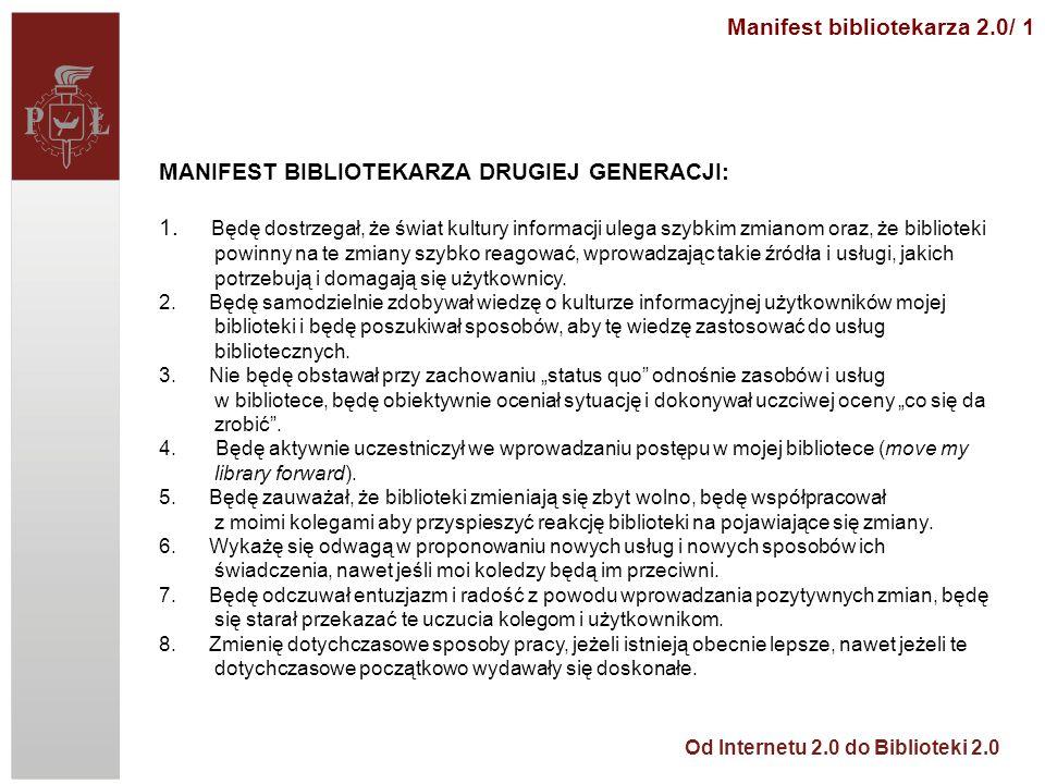 Manifest bibliotekarza 2.0/ 1
