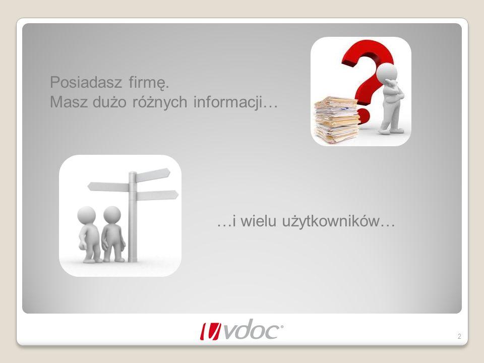 Posiadasz firmę. Masz dużo różnych informacji… …i wielu użytkowników…