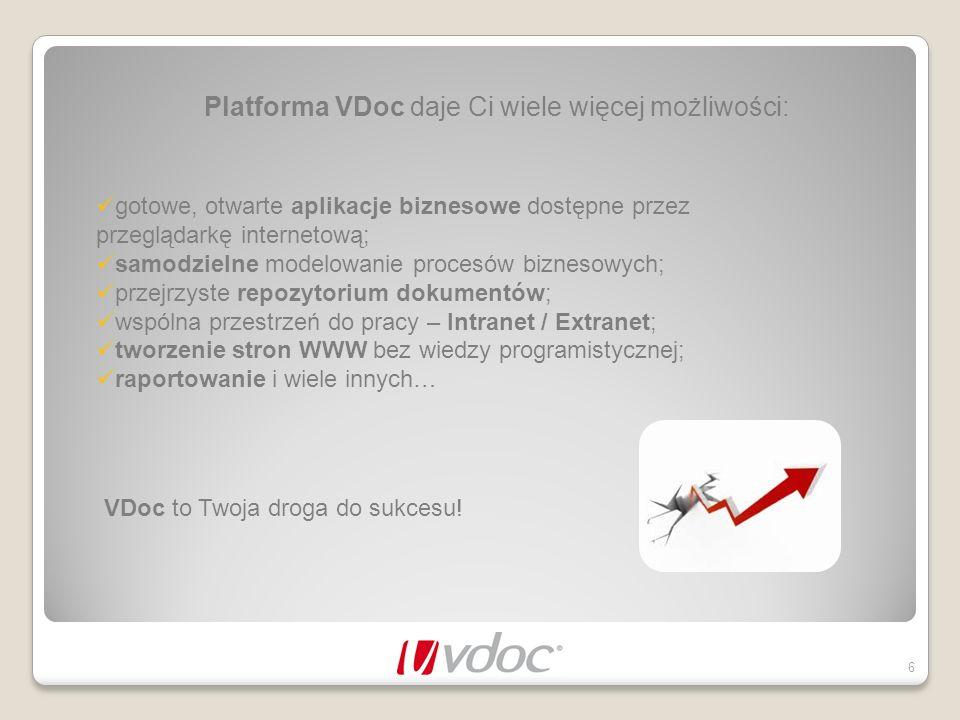 Platforma VDoc daje Ci wiele więcej możliwości: